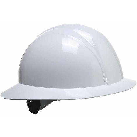 sUw - Site Safety Workwear Full Brim Future Hard Hat Helmet White
