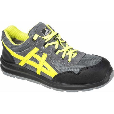sUw - Steelite Mersey Safety Footwear Trainer Shoes S1 - Grey - UK 4 - EU 37