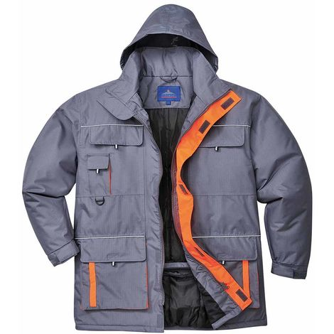 sUw - Texo Classic Workwear Durable Contrast Waterproof Rain Jacket