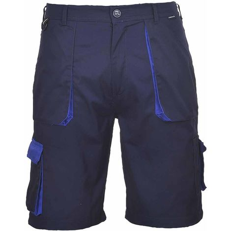sUw - Texo Hardwearing Workwear Elasticated Cotton Rich Contrast Shorts