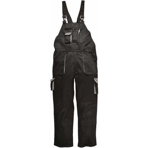 sUw - Texo Workwear Uniform Warm Cotton Rich Contrast Bib & Brace - Lined