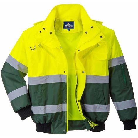 sUw - X Hi-Vis Safety Workwear Bomber Jacket