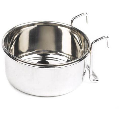 Suyash Industries Mayfield Bird Coop Food/Water Cup (9.5cm) (Silver)