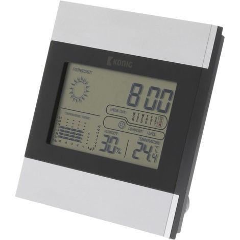 "main image of ""Sveglia LCD Stazione meteorologica snooze igrometro Calendario Umidita prevista"""