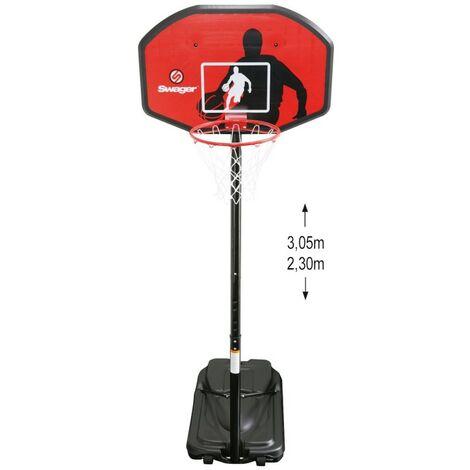 Swager Panier de Basket Ball sur Pied Réglable Miami