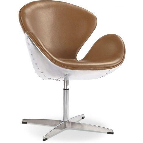 Swan chair Aviator armchair premium leather