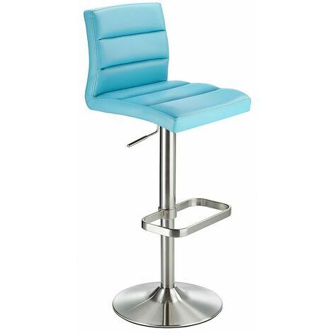 Swank Adjustable Padded Pvc Kitchen Bar Stool Blue Blue