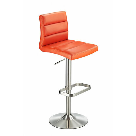 Swank Adjustable Padded Pvc Kitchen Bar Stool Orange Orange