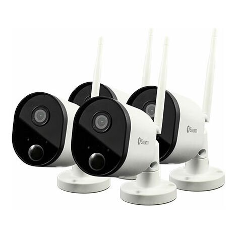Swann SWWHD-OUTCAMPK4-UK 1080p Outdoor WiFi Camera - 4 Pk White