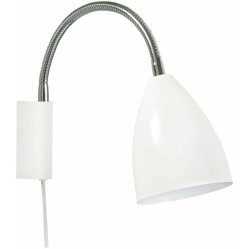Image of 21-belid - SWAY Garden Wall Lamp in Metal and Matt White
