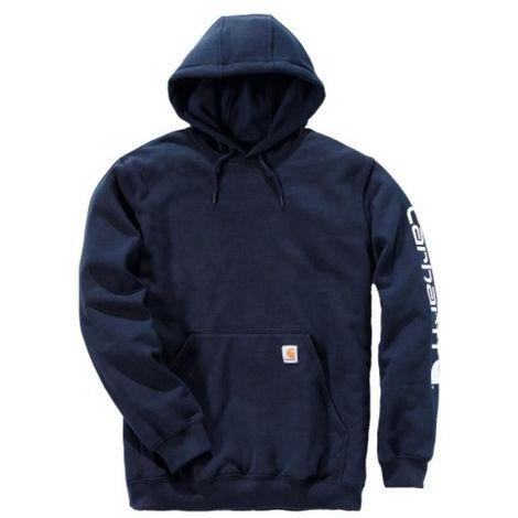 Sweat capuche non zippé logo manche poids moyen K288 navy L - Bleu navy - Bleu navy