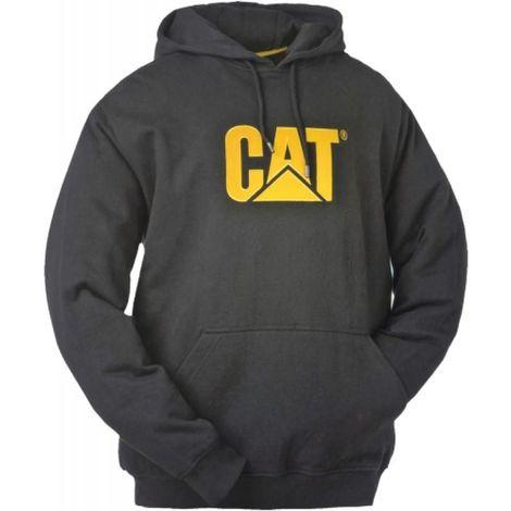 Sweat CAT noir/jaune Trademark à capuche S