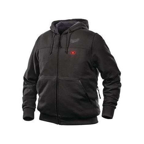 Sweat chauffant noir M12HHBL3-0 MILWAUKEE sans batterie ni chargeur - taille L - 4933464348