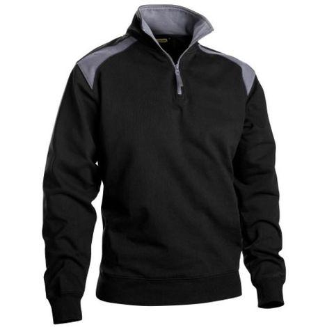 Sweat Coton 320 Gr Noir/Gris L