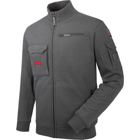 Sweat de travail Fullzip Dynamic+ Würth MODYF gris