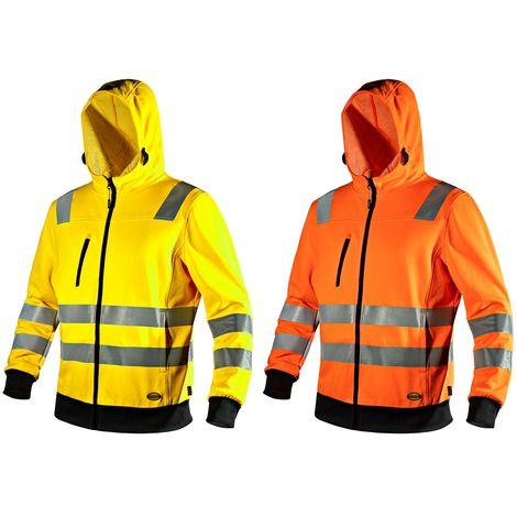 Sweat de travail haute visibilité Diadora Hoodie zip HV Orange XL