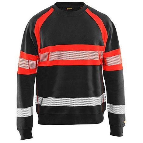 Sweat haute-visibilité - 9955 Noir/Rouge fluo - Blaklader