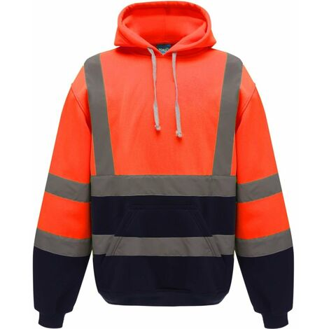 Sweat shirt à capuche haute visibilité femme Yoko catégorie 3 Orange Marine
