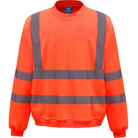 Sweat-shirt de travail haute visibilité Yoko Orange