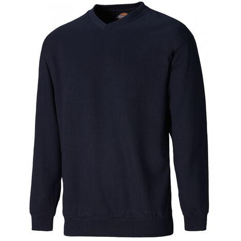 Sweat shirt Dickies col en V Bleu Marine