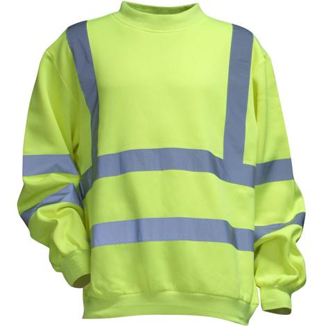 Sweat Shirt haute visibilité LMA Alarme Jaune Fluo