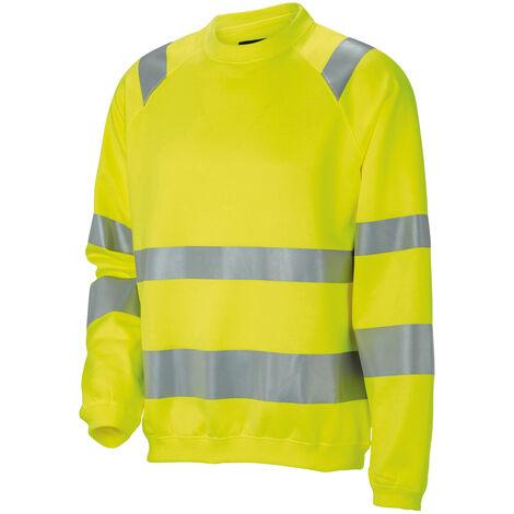 Sweat-shirt HiVis 1150 JOBMAN, jaune, Taille L