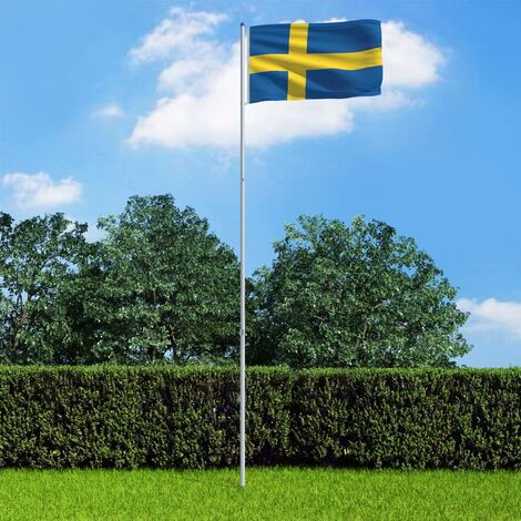 Sweden Flag and Pole Aluminium 6 m