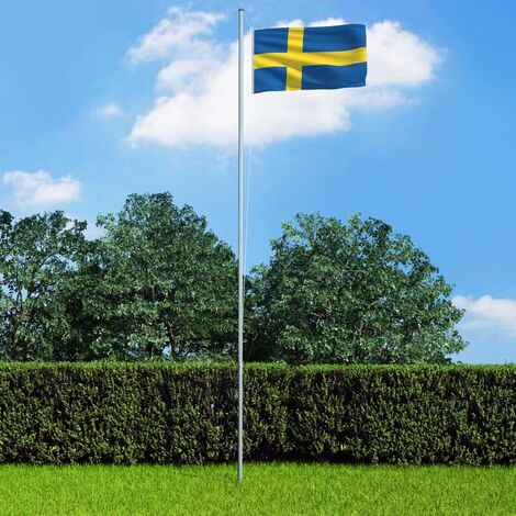 Sweden Flag and Pole Aluminium 6,2 m