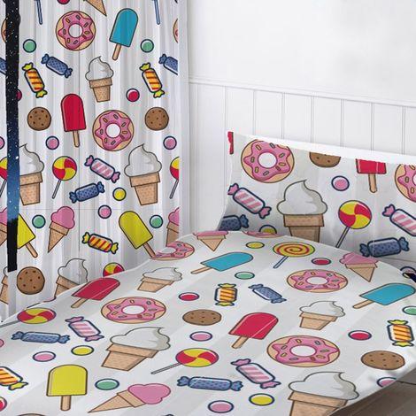 Sweet Dreams Curtains (Pair) (168 x 137cm) (Multicoloured)