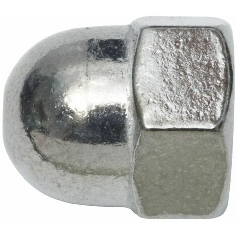 SWG Ecrou borgne de forme haute M10, en acier inoxydable A2, DIN 1587