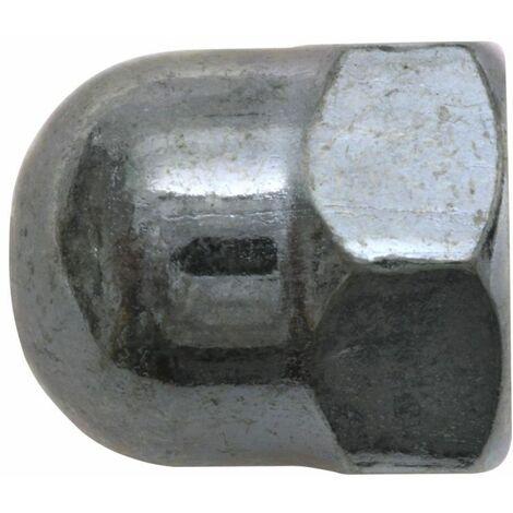 SWG Ecrou borgne de forme haute M8, zingué, DIN 1587