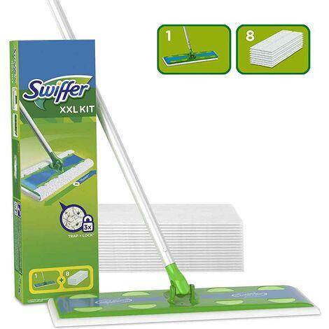 """main image of """"Swiffer Starter Kit XXL Scopa con Manico + 8 Panni Ricambio Cattura la Polvere"""""""