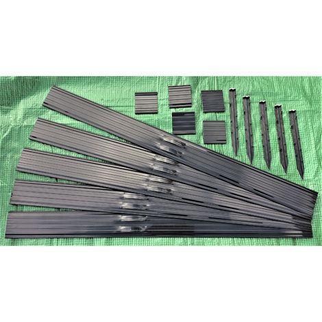Swift Edge Garden Edging - 24m pack - Black