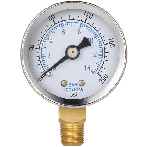 "Swimming Pool Filter Water Pressure Dial, Pressure Gauge, 1/8 ""Npt Thread"