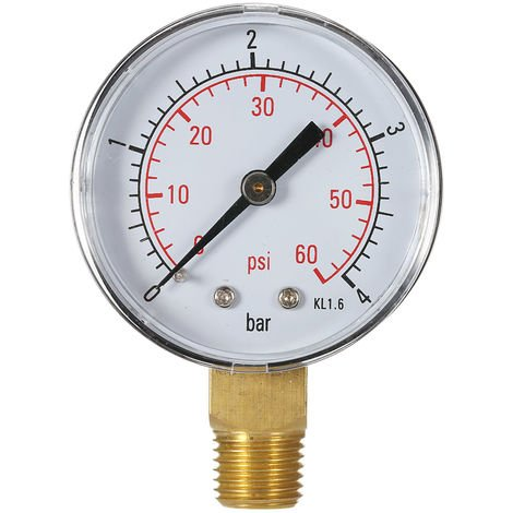 Swimming Pool Filter Water Pressure Dial Pressure Gauge