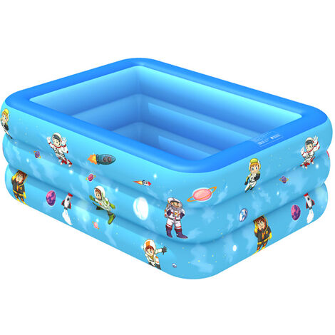 Swimming Pool Garden Outdoor Inflatable Paddling Pool Blue