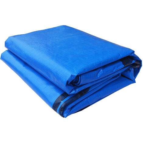 Swimming Pool Ground Cover Floor Pad Mat Blanket Outdoor Protection 3x3m Blue