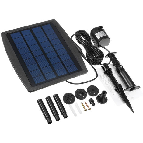 Swimming Pool Pump Fountain Kit Characteristic 2.5W 200L / H Garden Pond Solar Panel Water Hasaki