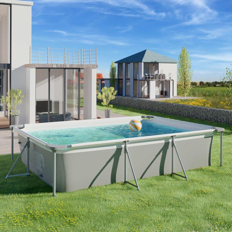Extrem Swimming Pool rechteckig mit Filterpumpe 300 x 207 x 70 cm IK42
