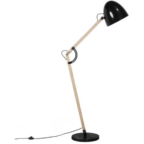 Swing Arm Floor Lamp Black HETTON