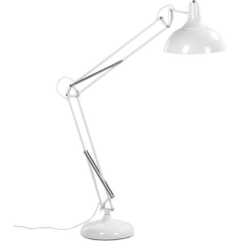 Swing Arm Floor Lamp White PARANA