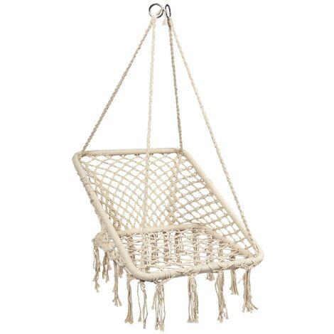 Swing Chair Hammock Chair Hanging Seat 64x55x125cm 120kg Capacity
