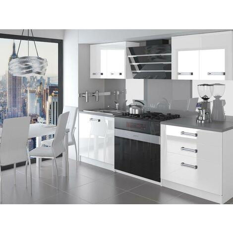 SWING   Cuisine Complète Modulaire + Linéaire L 120 cm 4 pcs   Plan de travail INCLUS   Ensemble meubles de cuisine   Blanc