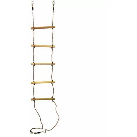 Swing King Echelle de corde avec 5 marches en bois