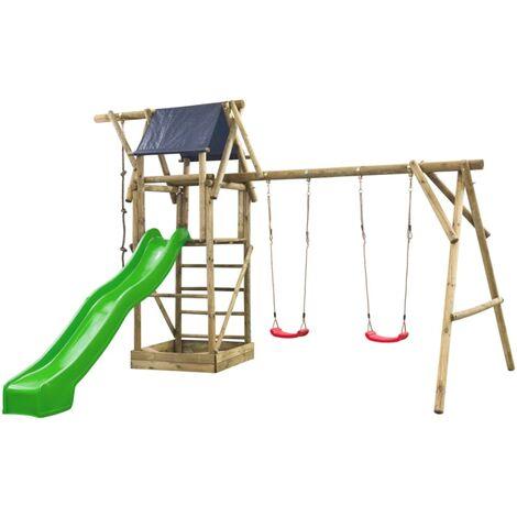 Swing King Playhouse Set Niels Green Slide 7880112.AG