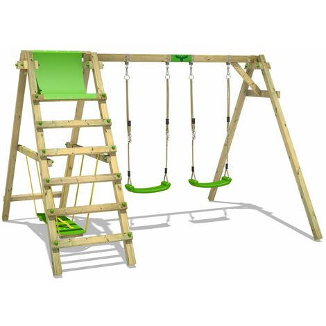 Swing Set FATMOOSE JollyJade Wave XXL with double swing and surfboard