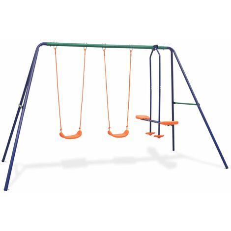 Swing Set with 4 Seats Orange