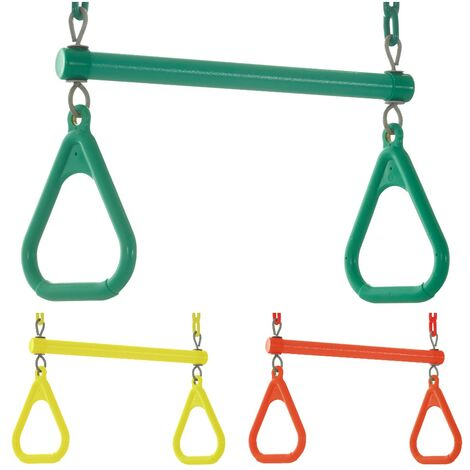 Swingan Kids Trapeze Bar Swing Seat & Rings | Playground Sets & Accessories for Children | Fully Assembled