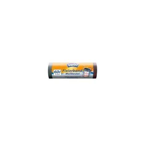 Swirl Müllbeutel mit Fixierband 60 L, 10 Stück