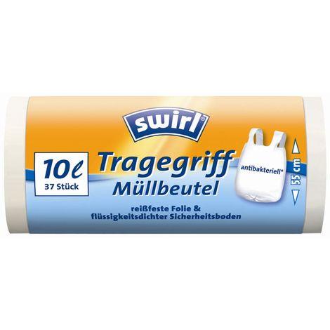 Swirl Müllbeutel10 l Antibakteriell 37 Stück auf Rolle